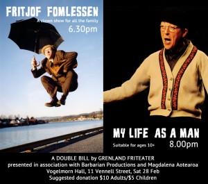 Saturday night 28 Feb. Performances.  Wellington.